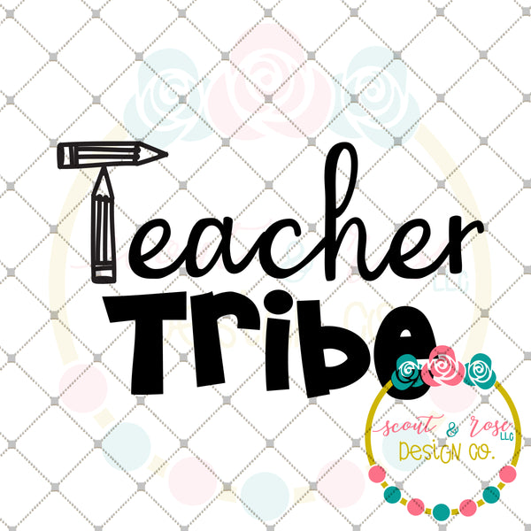 Teacher Tribe SVG DXF PNG