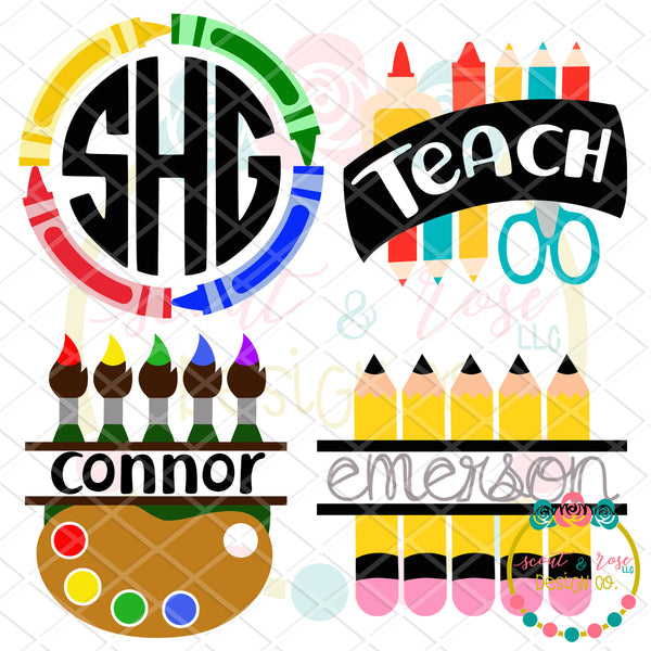 Teacher/School Set 1 SVG DXF PNG