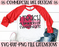 Teach Sweethearts SVG DXF PNG (2019)
