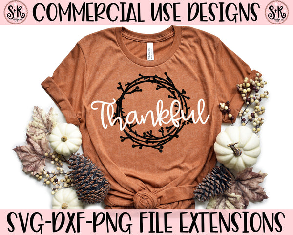 Thankful Wreath SVG DXF PNG (2019)