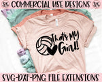 That's My Girl Volleyball Football SVG DXF PNG (2019)