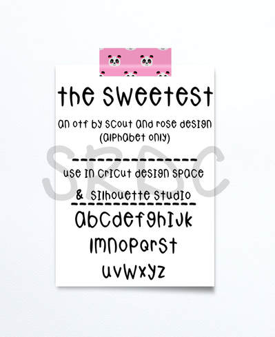 The Sweetest Font