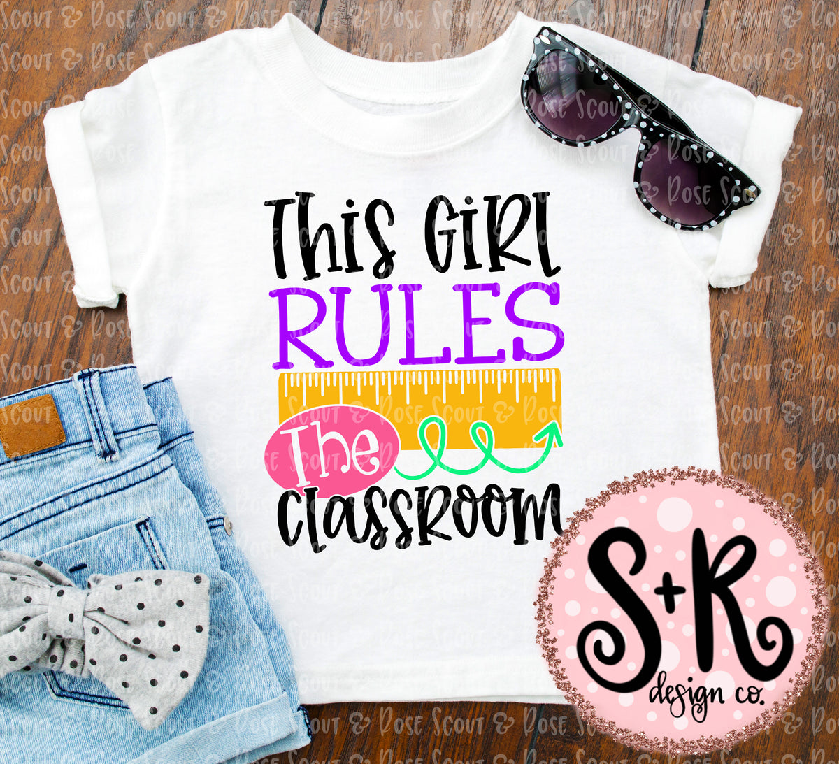 This Girl Rules The Classroom Svg Dxf Png 2019  Scout -1363