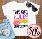 This Girl Rules The Classroom SVG DXF PNG (2019)