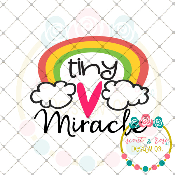 Rainbow Tiny Miracle SVG DXF PNG