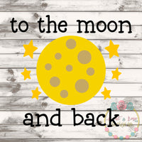 To The Moon SVG DXF PNG