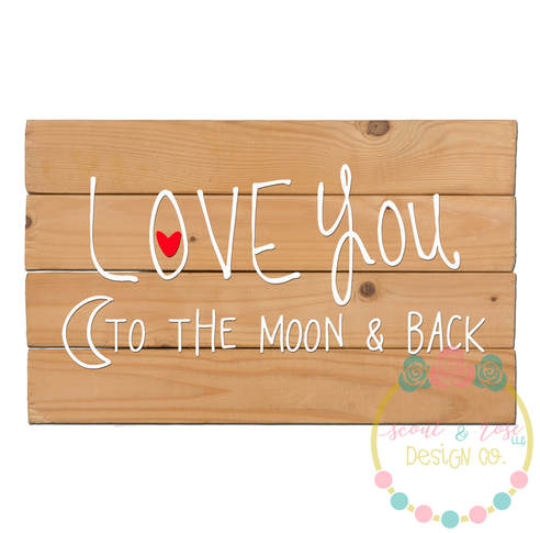 To the Moon and Back SVG DXF PNG