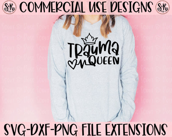 Trauma Queen SVG DXF PNG (2020)