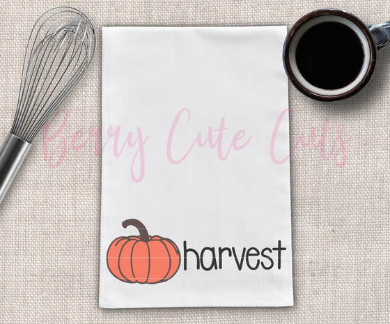 Harvest Tea Towel Design Cut File