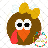 Girl Turkey Face SVG DXF PNG