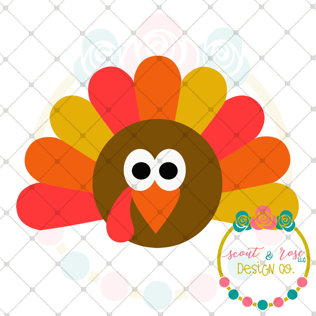 Boy Turkey SVG DXF PNG