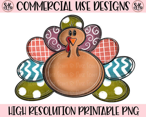 Thanksgiving Turkey Printable Design (2019)