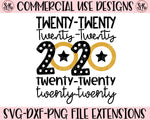 New Year Twenty Twenty 2020 Y'all SVG DXF PNG (2019)