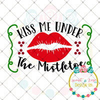 Under the Mistletoe SVG DXF PNG