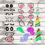 Design Your Own Unicorn Set SVG DXF PNG