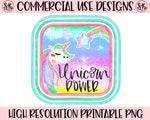 Unicorn Power Printable Design (2019)