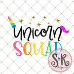 Unicorn Squad SVG DXF PNG