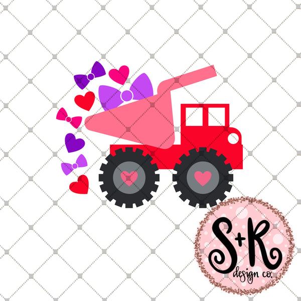 Valentines Day Dump Truck Svg Dxf Png Scout And Rose Design Co