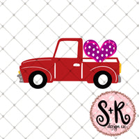 Valentines Day Truck Svg Dxf Png Scout And Rose Design Co