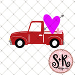 Valentines Day Truck SVG DXF PNG