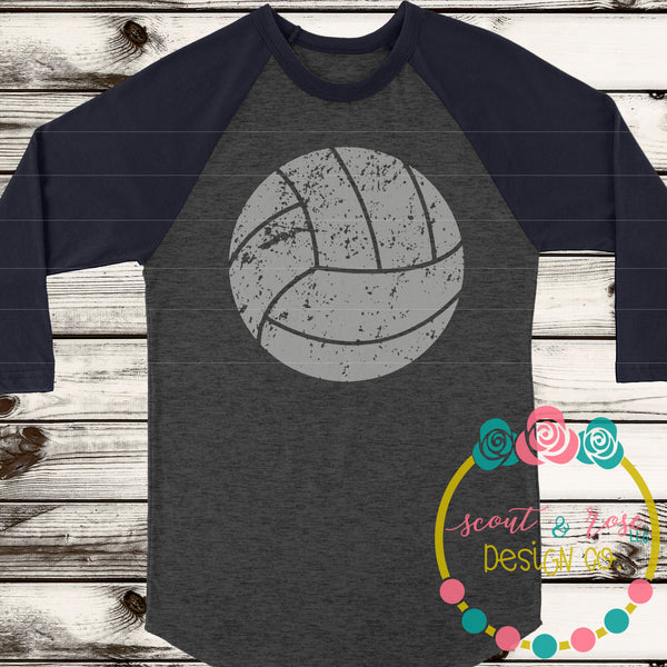 Volleyball Grunge SVG DXF PNG