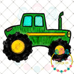 Watercolor Tractor Sublimation Design