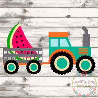 Watermelon Tractor SVG DXF PNG