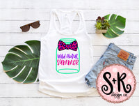 Wild About Summer Mason Jar SVG DXF PNG (2019)
