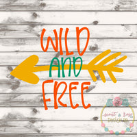 Wild and Free Arrow SVG DXF PNG