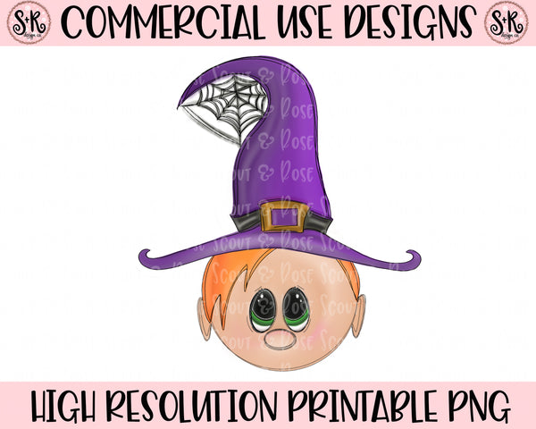 Cutie Witch Red Hair Printable Design (2019)