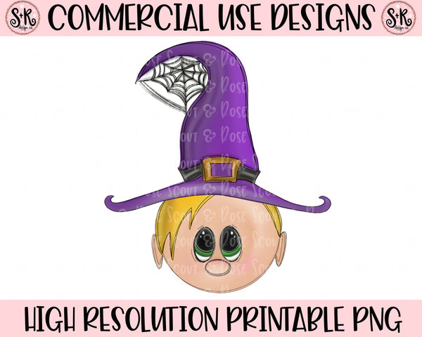 Cutie Witch Blonde Hair Printable Design (2019)