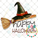 Happy Halloween Witch Sublimation Design