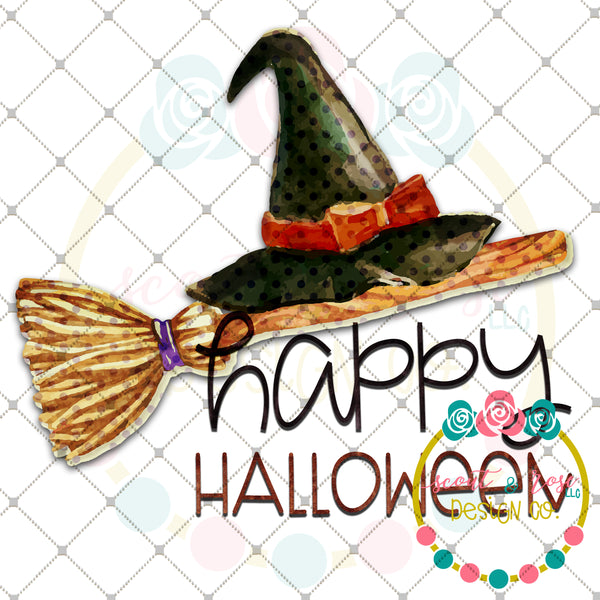 Happy Halloween Witch Printable Design