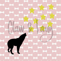 Claw & Fang Wolf Stars Cut File