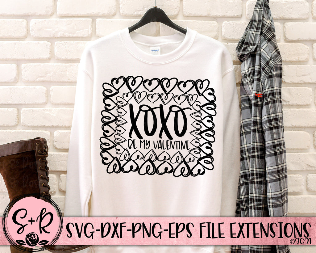 XOXO Hearts SVG DXF PNG (2021)