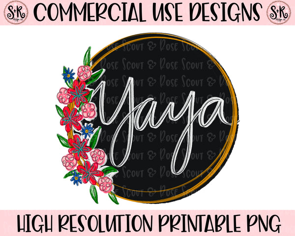 Yaya Floral Printable Design (2020)