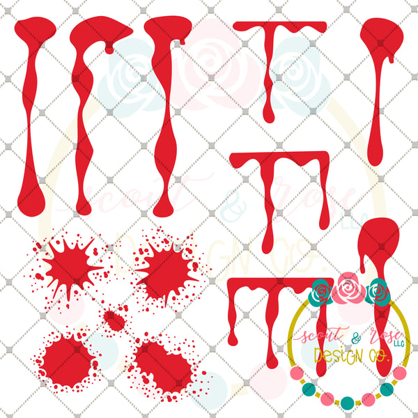 Design Your Own Halloween Blood Stain SVG DXF PNG
