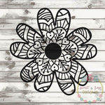 Hand Drawn Flower SVG DXF PNG