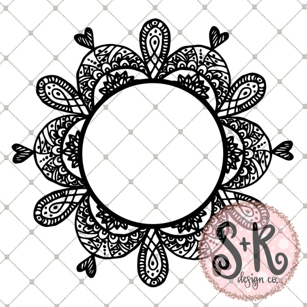 Zentangle Wreath SVG DXF PNG (2019)