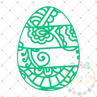Easter Egg Zentangle SVG DXF PNG