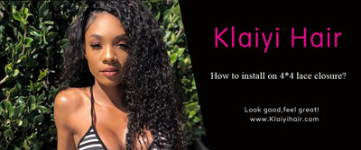How to install on 4*4 lace closure?
