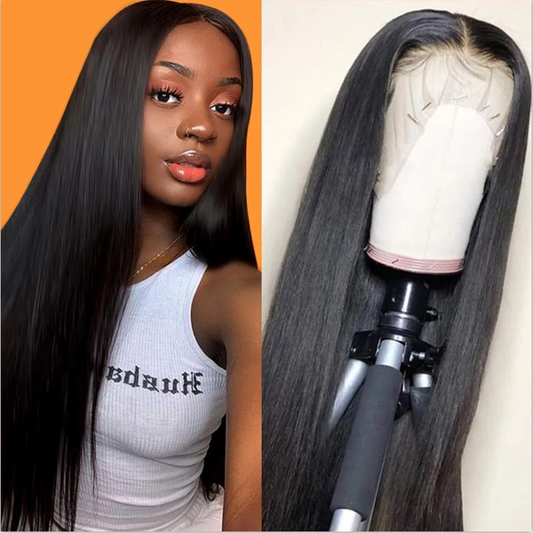 9A Invisible Lace Straight Hair Human Hair Wigs