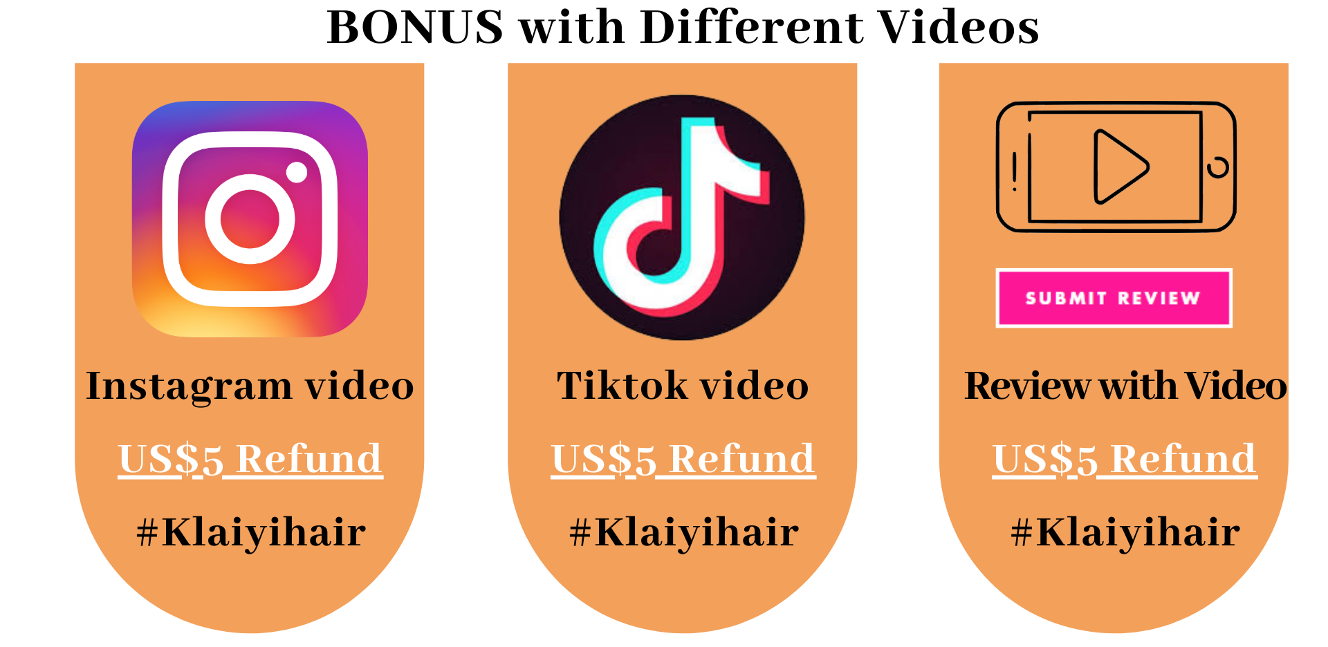 SHARE KLAIYI HAIR ON SOCIAL MEDIAL AND WITH YOUR FRIENDS, GET MONEY SOON