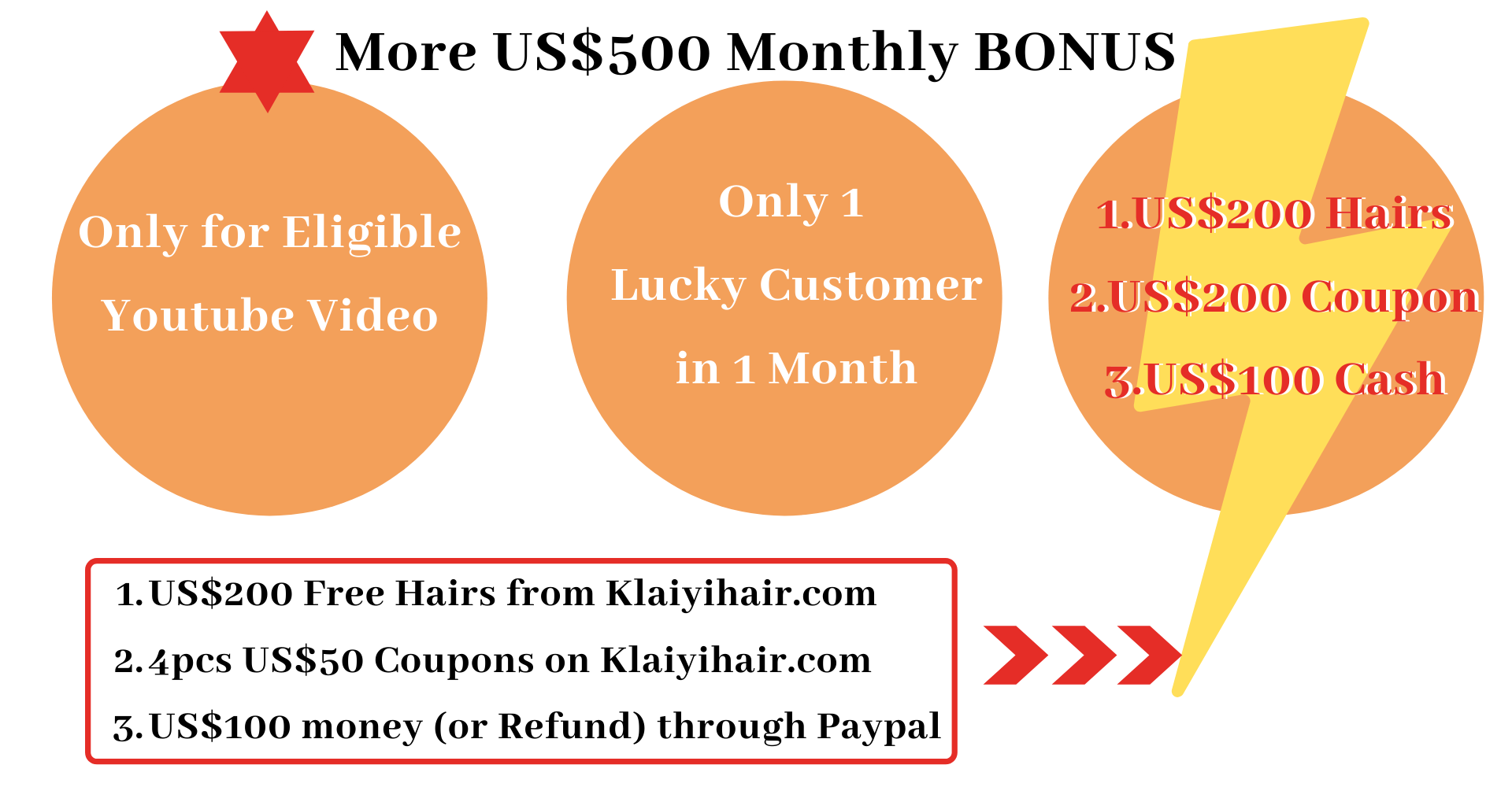 MAKE A SIMPLE VIDEO WITH KLAIYI HAIR AND GET OVER 500USD REWARD WITH YOUR ORDER