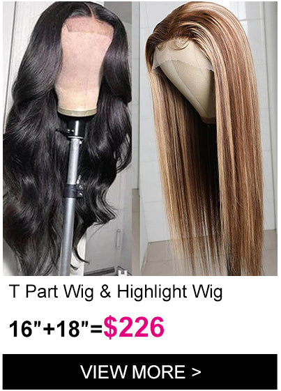 Klaiyi Brand Day flash sale body wave t part lace wig highlight three part lace wig