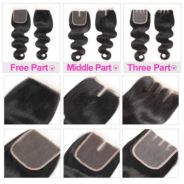 5x5 Lace Closure Human Hair Swiss Lace
