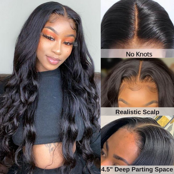 Body Wave Silk Base Human Hair Wig