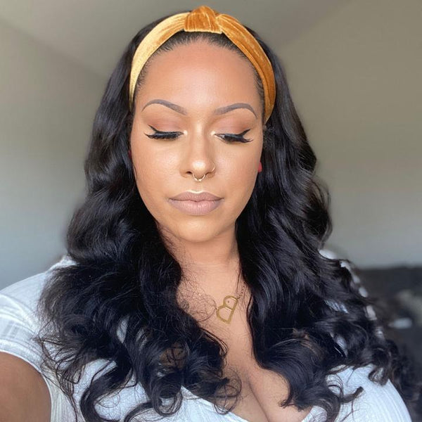 Glueless Body Wave Headband Wig