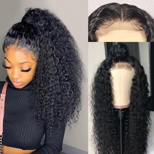 Brazilian 44 lace closure  Wigs Long Curly Lace Front Wig