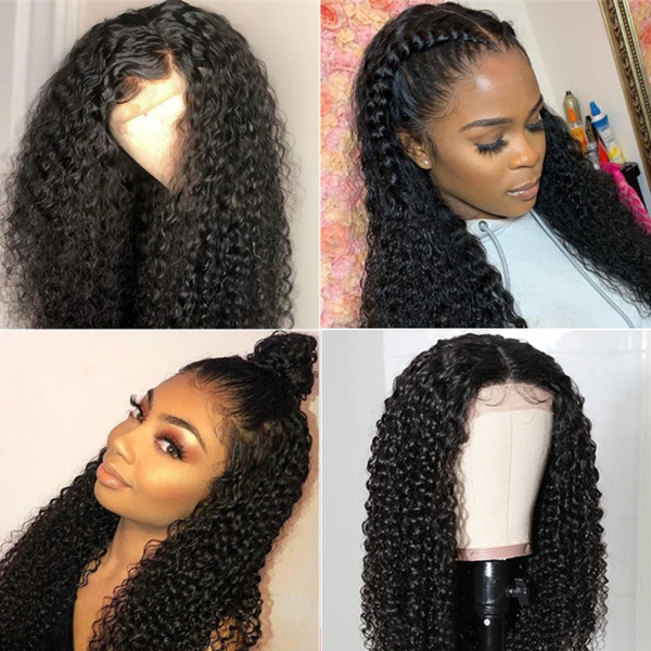 Brazilian Lace Part Wigs Long Curly Fake Scalp Wig